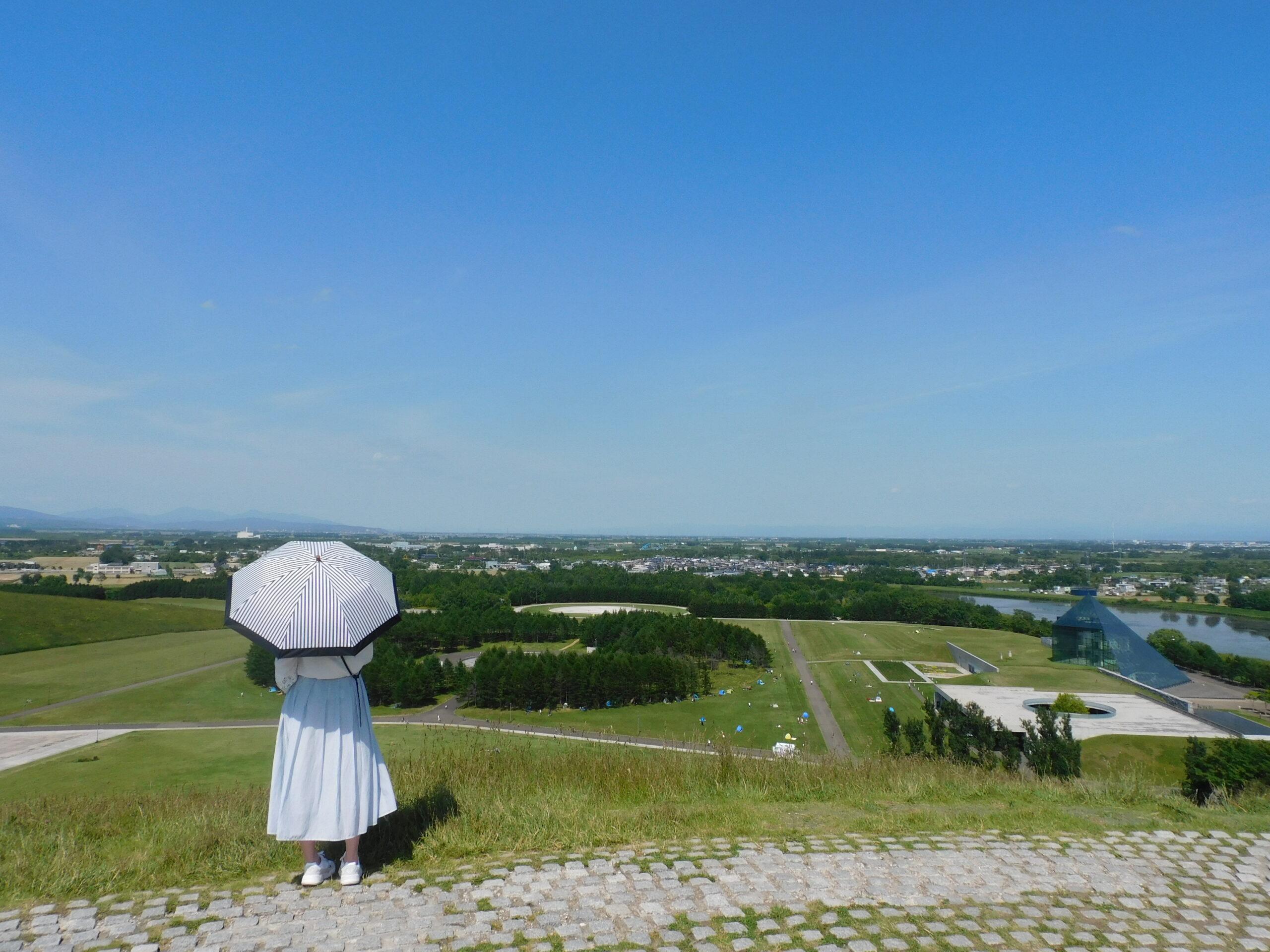札幌モエレ沼公園の丘の上