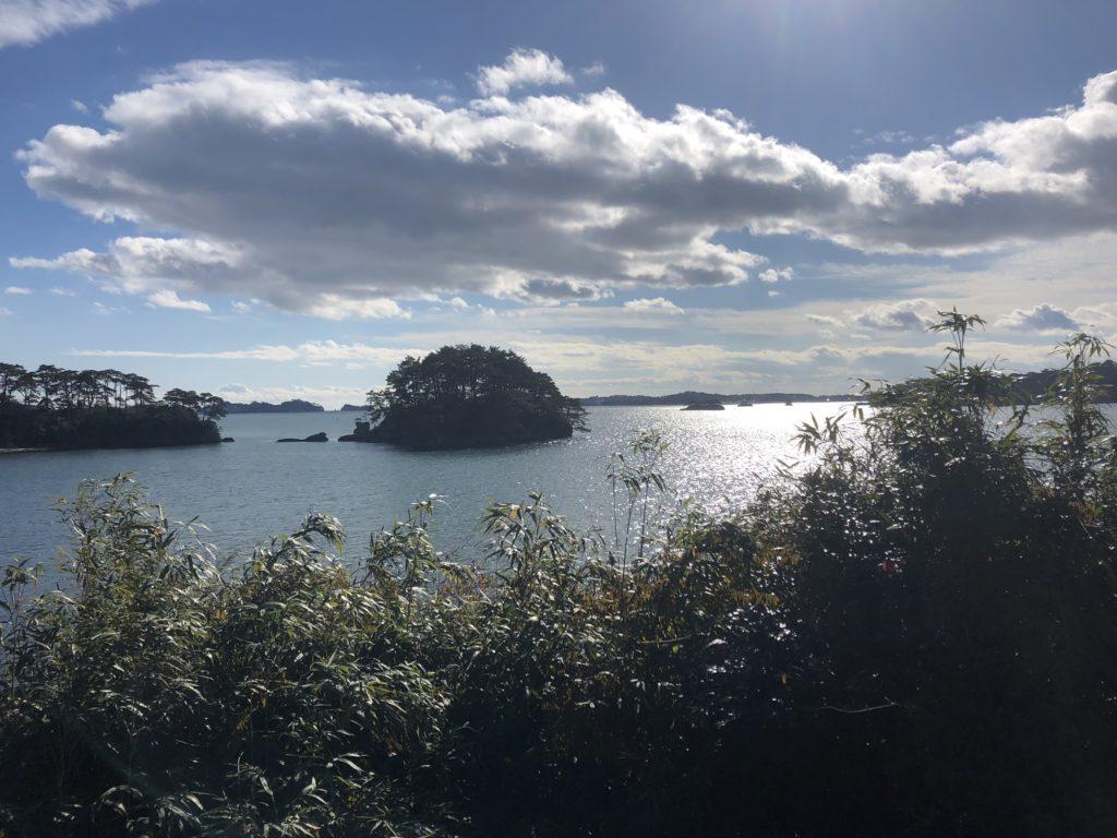 福浦島から見る松島の海