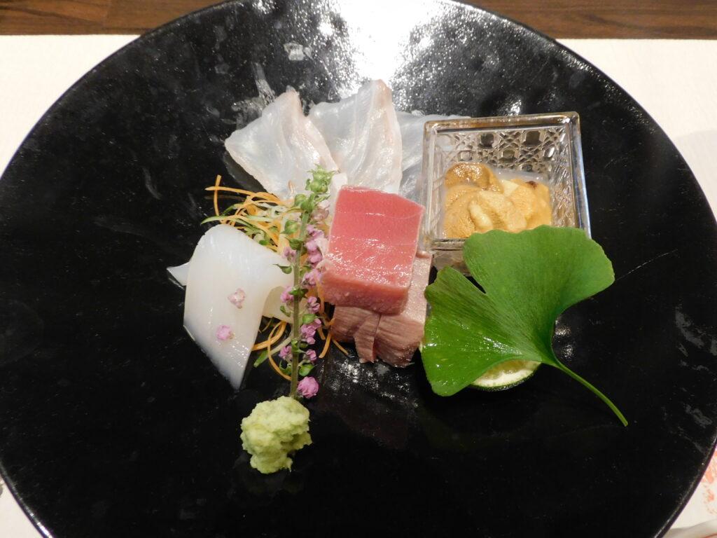 壱岐リトリート海里村上の夕食の刺身