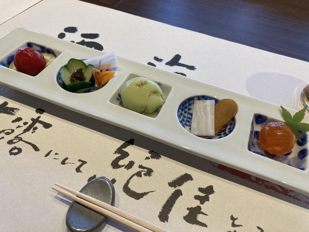 壱岐リトリート海里村上の夕食の前菜