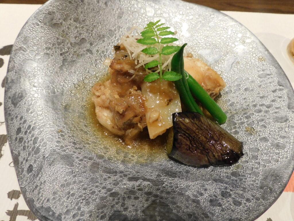 壱岐リトリート海里村上の夕食(九絵の煮付け)
