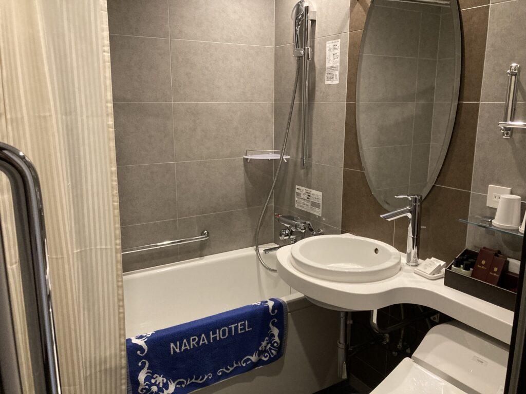 奈良ホテルの客室内の風呂「本館スタンダードツイン」