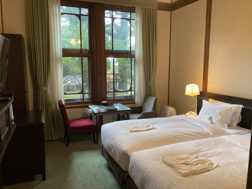 奈良ホテルの客室「本館スタンダードツイン」