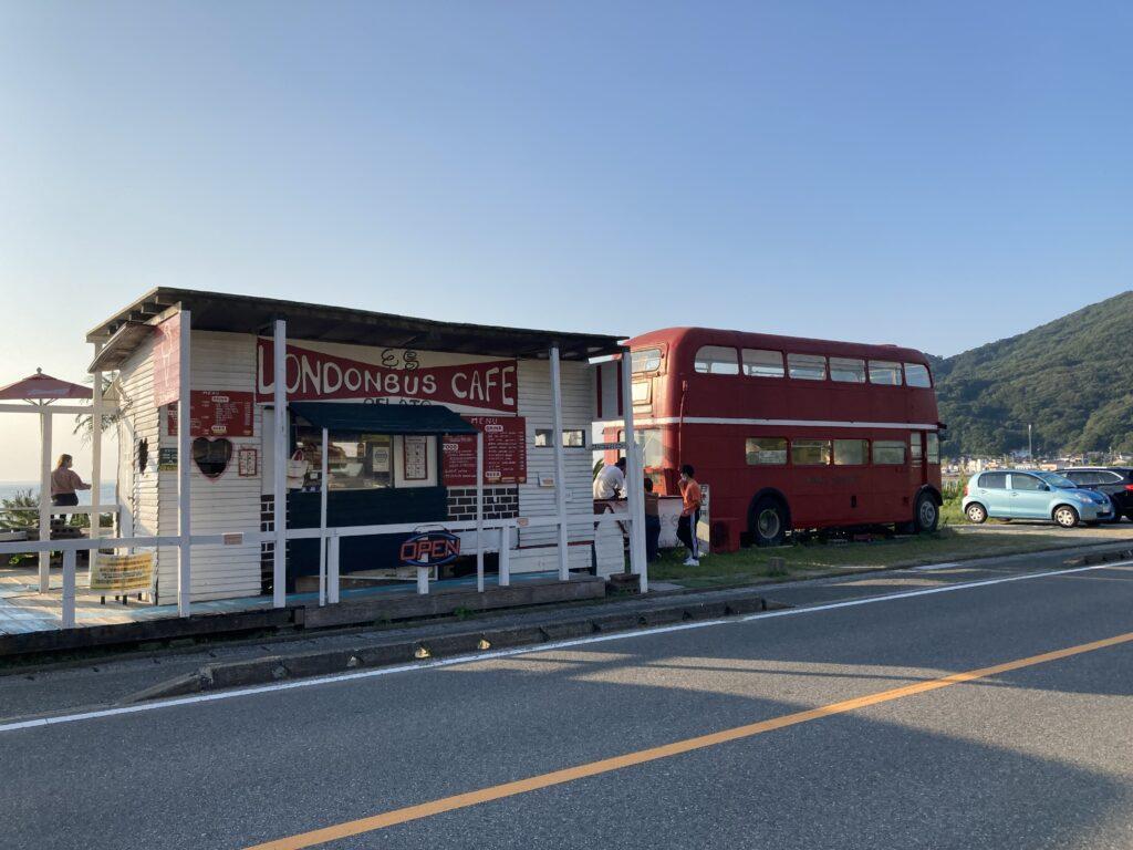 Currentの真ん前にあるLondon Bus Cafe